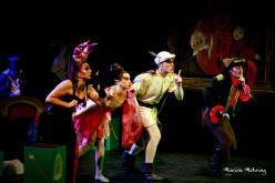 Le Chapelier, (Eric Moulin), Carabosse( Emmanuelle Mehring), Fée Clochette (Lysiane Clément), Le Prince (Aurélien Métral), Le Capitaine Crochet (David Bescond)